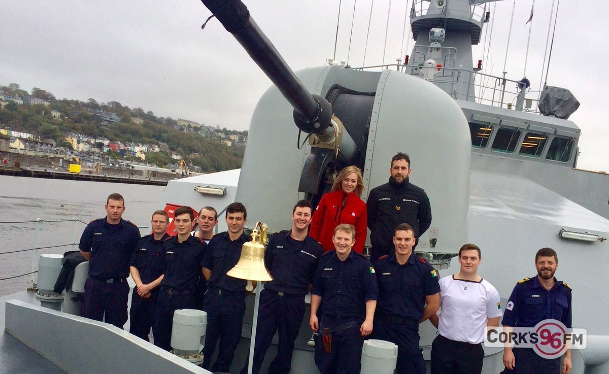 Coffee Morning on board the LÉ Samuel Beckett